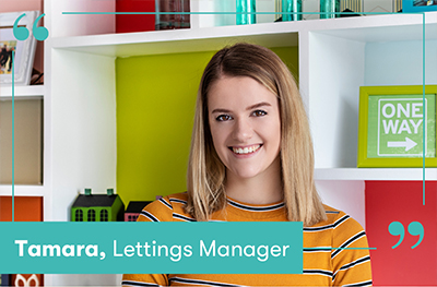 Tamara Price, lettings manager at CPS Homes in Cardiff, South Wales
