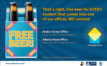 Free Beer for all Cardiff Students