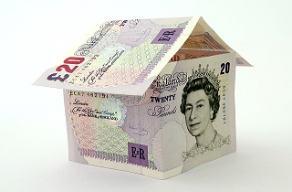 House made from £20 notes