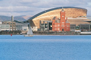 View of Cardiff Bay and Millennium Centre