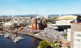 Cardiff Bay view from above